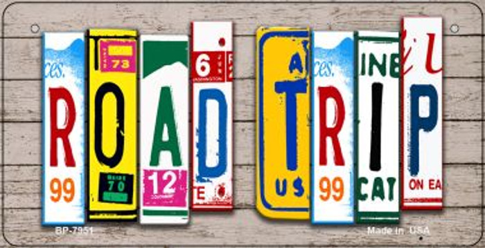 Road Trip Plate Art Wholesale Novelty Bicycle Plate BP-7951