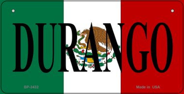 Durango Mexico Flag Wholesale Novelty Bicycle Plate BP-3432