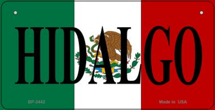 Hidalgo Mexico Flag Wholesale Novelty Bicycle Plate BP-3442