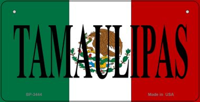 Tamaulipas Mexico Flag Wholesale Novelty Bicycle Plate BP-3444