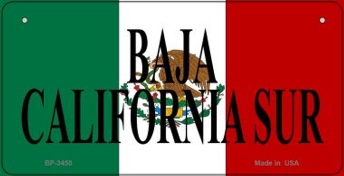Baja California Sur Mexico Flag Wholesale Novelty Bicycle Plate BP-3450