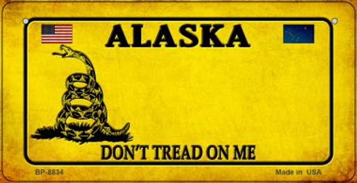 Alaska Do Not Tread Wholesale Novelty Bicycle Plate BP-8834
