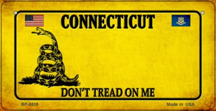 Connecticut Do Not Tread Wholesale Novelty Bicycle Plate BP-8839