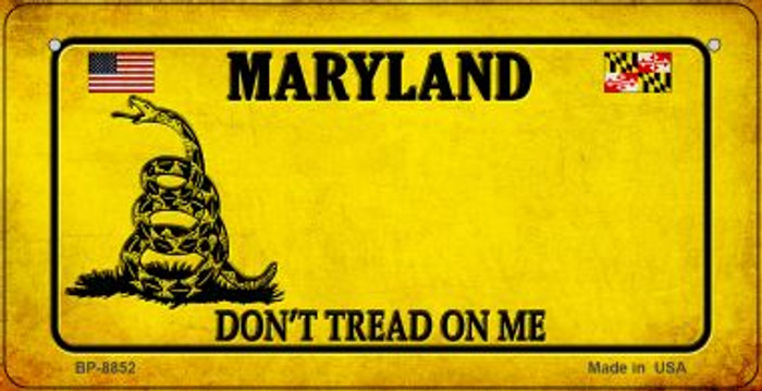 Maryland Do Not Tread Wholesale Novelty Bicycle Plate BP-8852