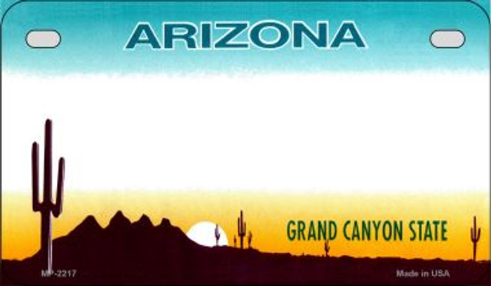Arizona Blank Background Wholesale Novelty Motorcycle Plate MP-2217