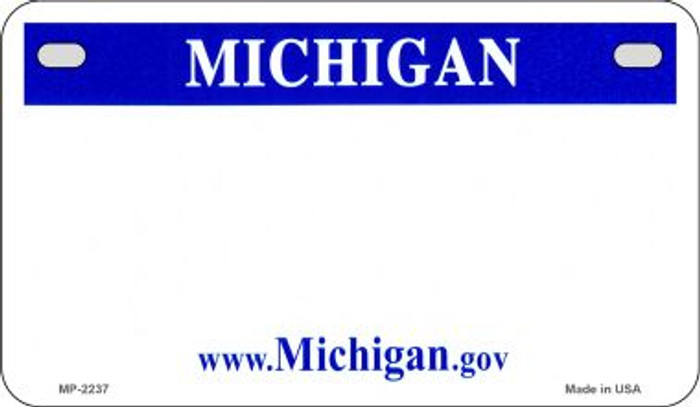 Michigan Blank Background Wholesale Novelty Motorcycle Plate MP-2237