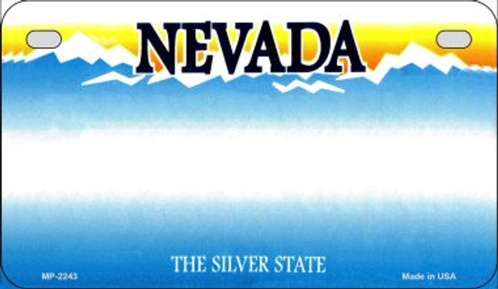 Nevada Blank Background Wholesale Novelty Motorcycle Plate MP-2243