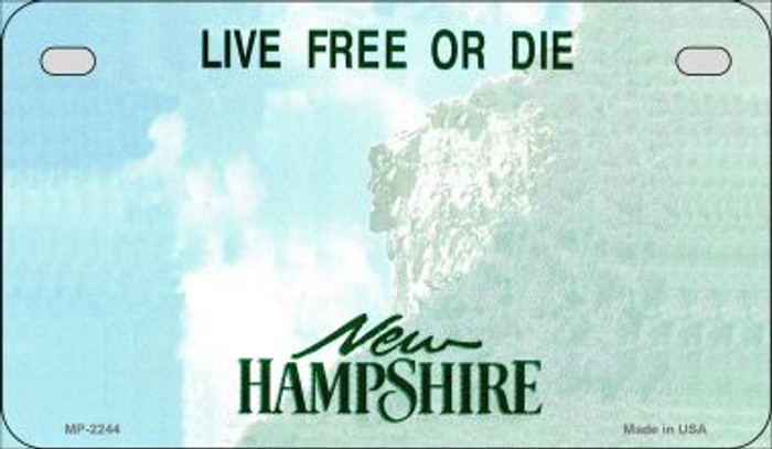 New Hampshire Blank Background Wholesale Novelty Motorcycle Plate MP-2244