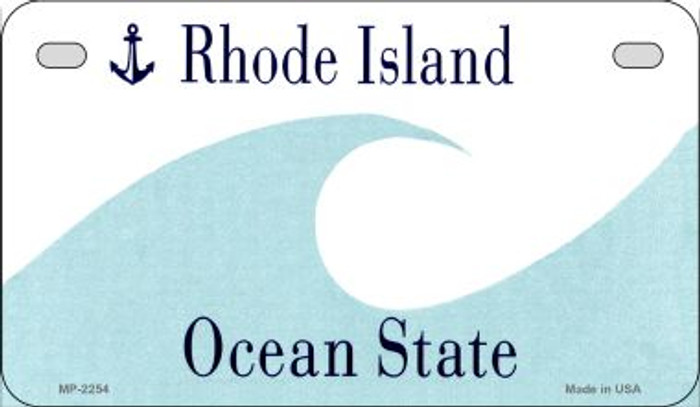 Rhode Island Blank Background Wholesale Novelty Motorcycle Plate MP-2254