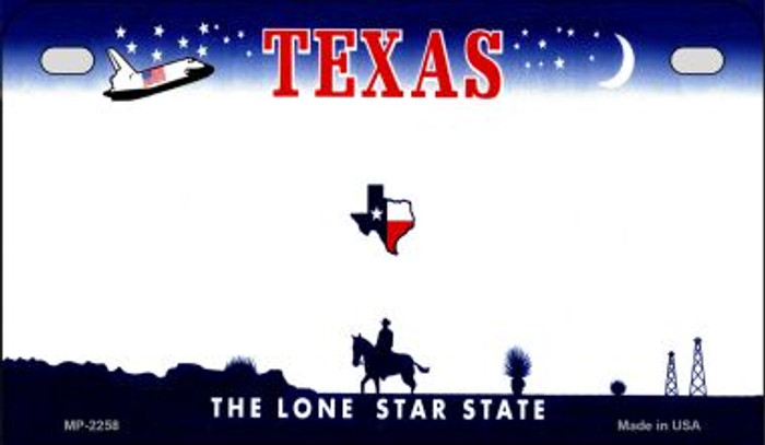 Texas Blank Background Wholesale Novelty Motorcycle Plate MP-2258