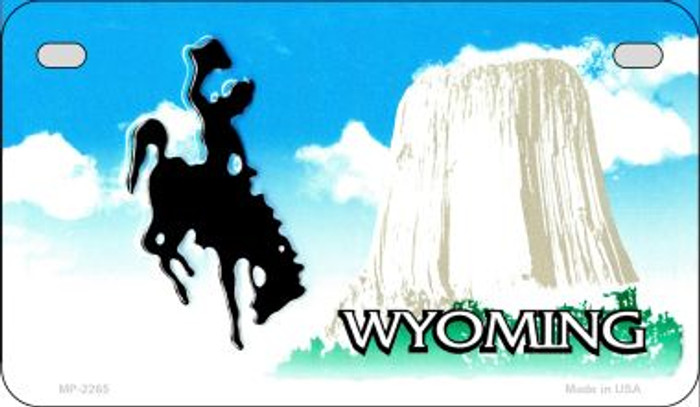 Wyoming Blank Background Wholesale Novelty Motorcycle Plate MP-2265