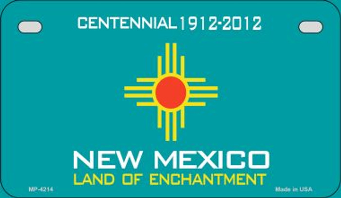 New Mexico Blank Background Wholesale Novelty Motorcycle Plate MP-4214