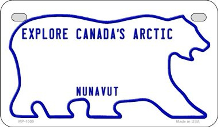 Nunavut Blank Background Wholesale Novelty Motorcycle Plate MP-1509