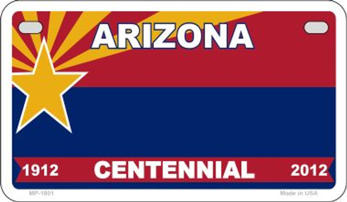 Arizona Centennial Blank Background Wholesale Novelty Motorcycle Plate MP-1801