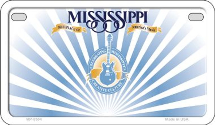 Mississippi Blank Background Wholesale Novelty Motorcycle Plate MP-9504