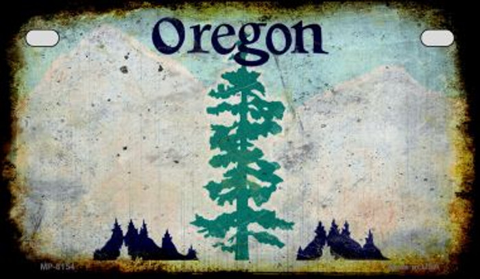 Oregon Rusty Blank Background Wholesale Novelty Motorcycle Plate MP-8154