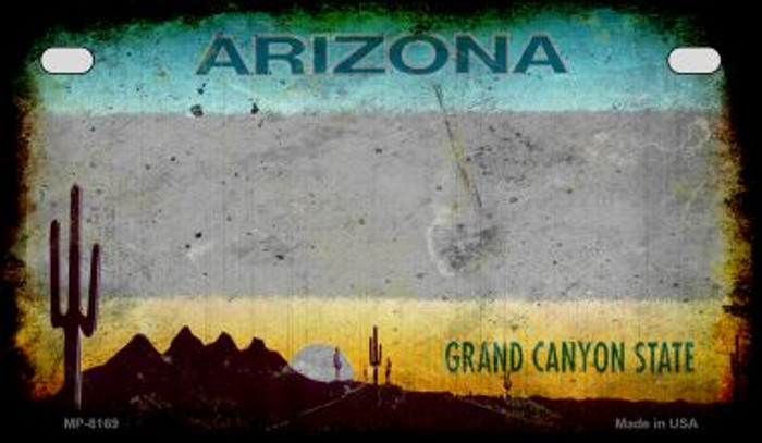 Arizona Grey Rusty Blank Background Wholesale Novelty Motorcycle Plate MP-8169
