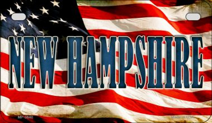 New Hampshire US Flag Wholesale Novelty Motorcycle Plate MP-3640