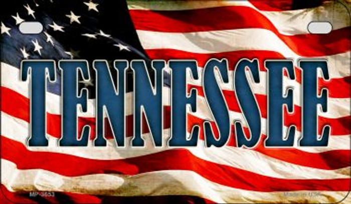 Tennessee US Flag Wholesale Novelty Motorcycle Plate MP-3653