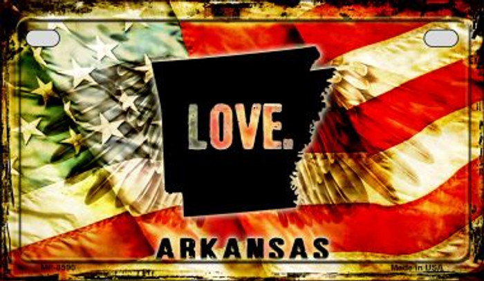 Arkansas Love & Wings Wholesale Novelty Motorcycle Plate MP-8590