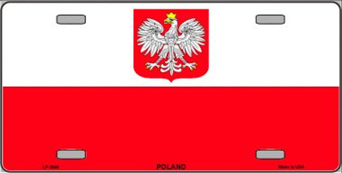 Poland Eagle Flag Wholesale Metal Novelty License Plate LP-3946