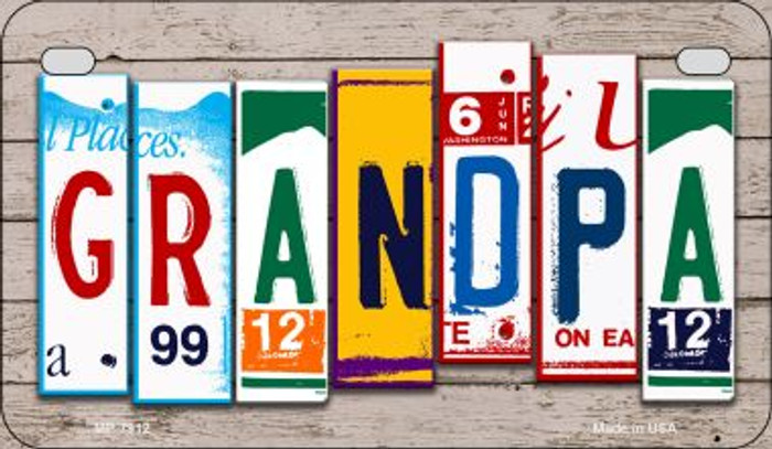 Grandpa Plate Art Wholesale Novelty Motorcycle Plate MP-7912