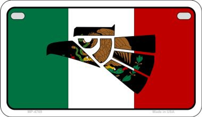 Made In Mexico (Flag) Wholesale Novelty Motorcycle Plate MP-4769