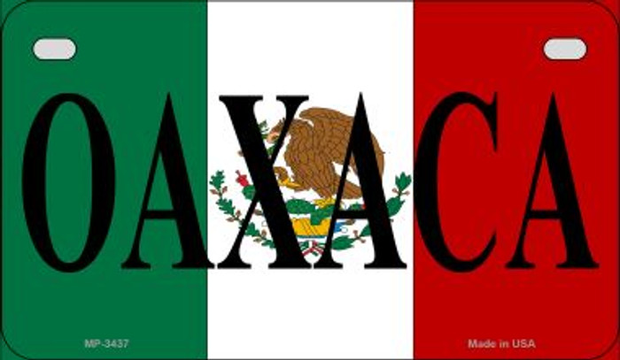 Oaxaca Mexico Flag Wholesale Novelty Motorcycle Plate MP-3437