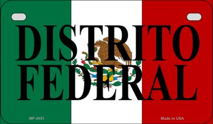 Distrito Federal Mexico Flag Wholesale Novelty Motorcycle Plate MP-3451