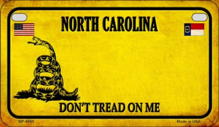 North Carolina Do Not Tread Wholesale Novelty Motorcycle Plate MP-8865