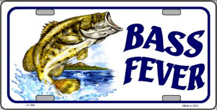 Bass Fever Wholesale Metal Novelty License Plate LP-399
