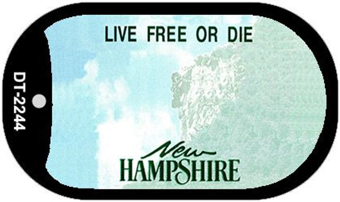 New Hampshire Blank Background Wholesale Dog Tag Necklace DT-2244