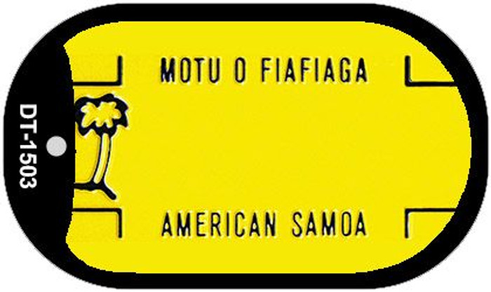 American Samoa Blank Background Wholesale Dog Tag Necklace DT-1503