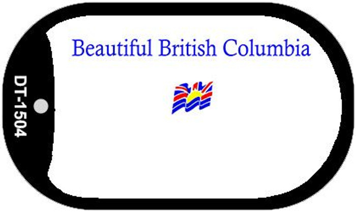 British Columbia Blank Background Wholesale Dog Tag Necklace DT-1504