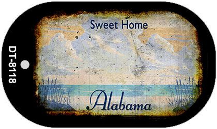 Alabama Rusty Blank Background Wholesale Dog Tag Necklace DT-8118