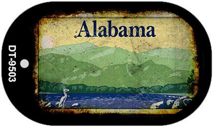 Alabama Rusty Blank Background Wholesale Dog Tag Necklace DT-9503
