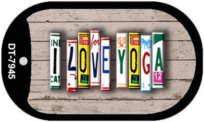 I Love Yoga Plate Art Wholesale Dog Tag Necklace DT-7945