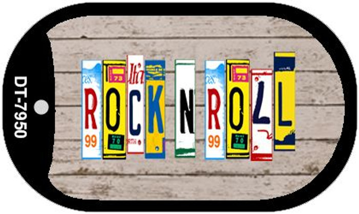 Rock N Roll Plate Art Wholesale Dog Tag Necklace DT-7950