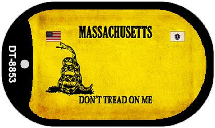 Massachusetts Do Not Tread Wholesale Dog Tag Necklace DT-8853