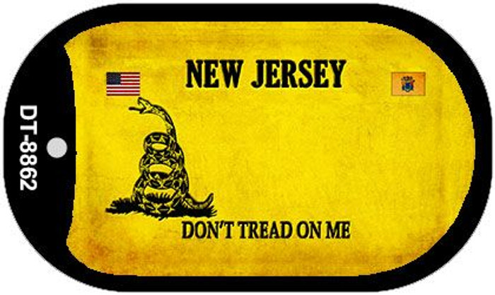 New Jersey Do Not Tread Wholesale Dog Tag Necklace DT-8862