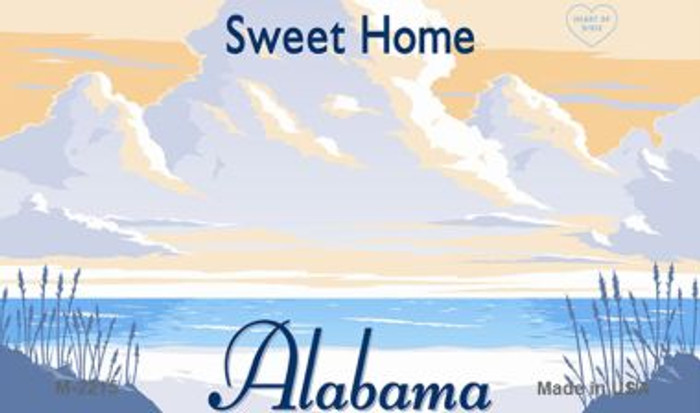 Alabama Blank Background Wholesale Aluminum Magnet M-2215