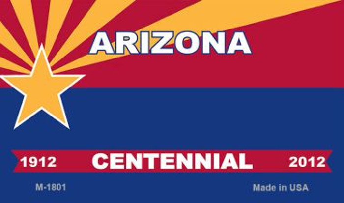 Arizona Centennial Blank Background Wholesale Aluminum Magnet M-1801