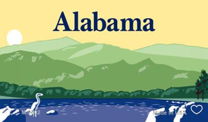 Alabama Blank Background Wholesale Aluminum Magnet M-9502