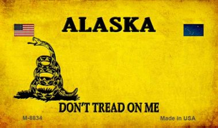 Alaska Do Not Tread Wholesale Aluminum Magnet M-8834