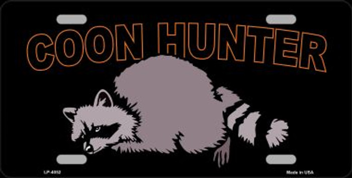 Coon Hunter Wholesale Metal Novelty License Plate LP-4052