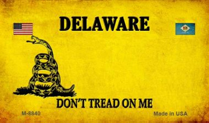 Delaware Do Not Tread Wholesale Aluminum Magnet M-8840