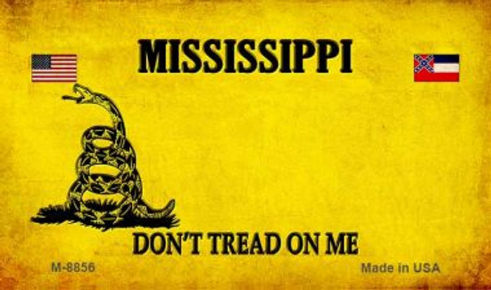 Mississippi Do Not Tread Wholesale Aluminum Magnet M-8856