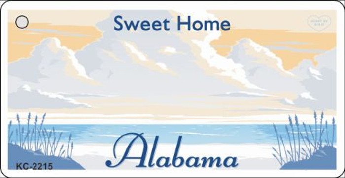 Alabama Blank Background Wholesale Aluminum Key Chain KC-2215