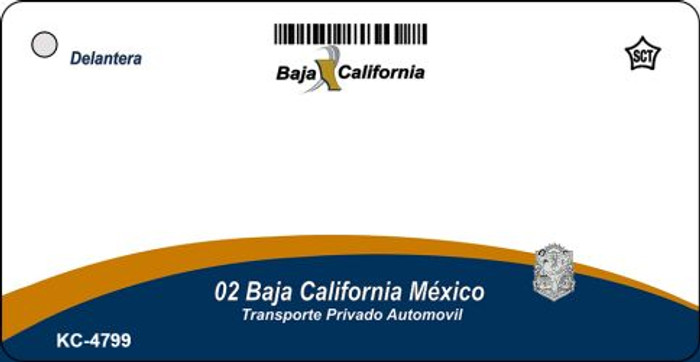 Baja California Blank Background Wholesale Aluminum Key Chain KC-4799