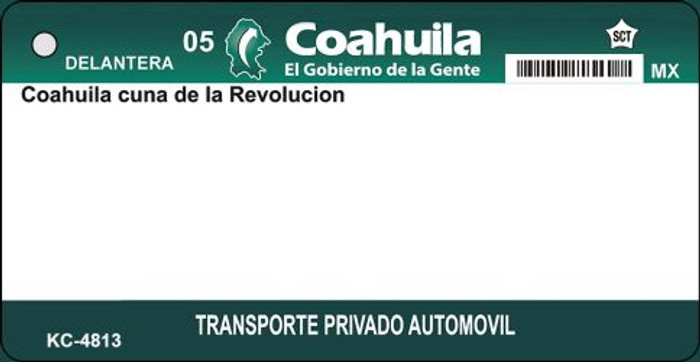Coahuila Blank Background Wholesale Aluminum Key Chain KC-4813